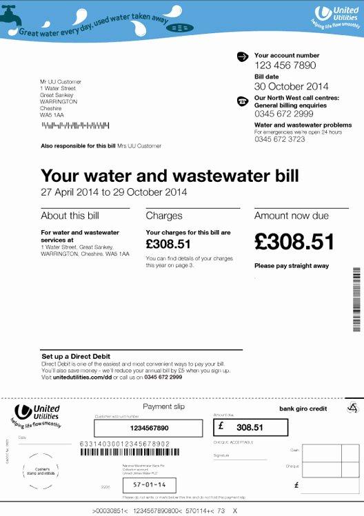 Water Bill Template Elegant Water Bill Template Rusinfobiz