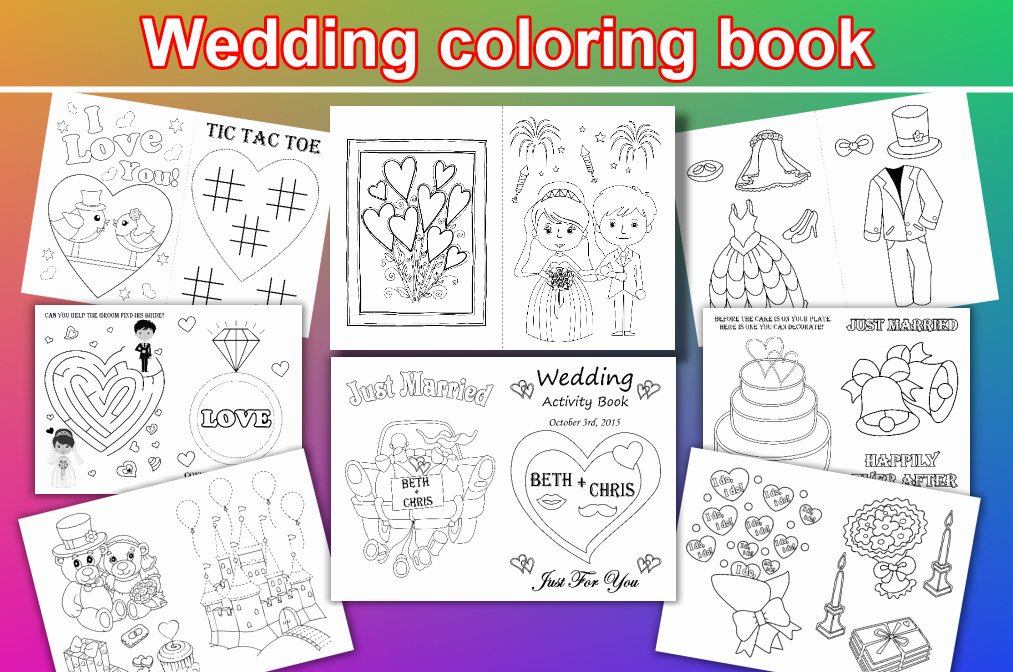Wedding Coloring Book Templates Elegant Kids Wedding Coloring Pages Kids