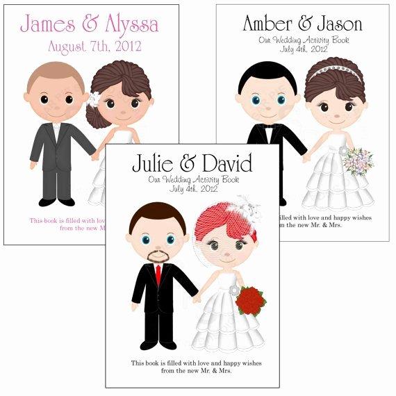 Wedding Coloring Book Templates Fresh Printable Personalized Custom 8 5x 5 5 Wedding Favor Kids