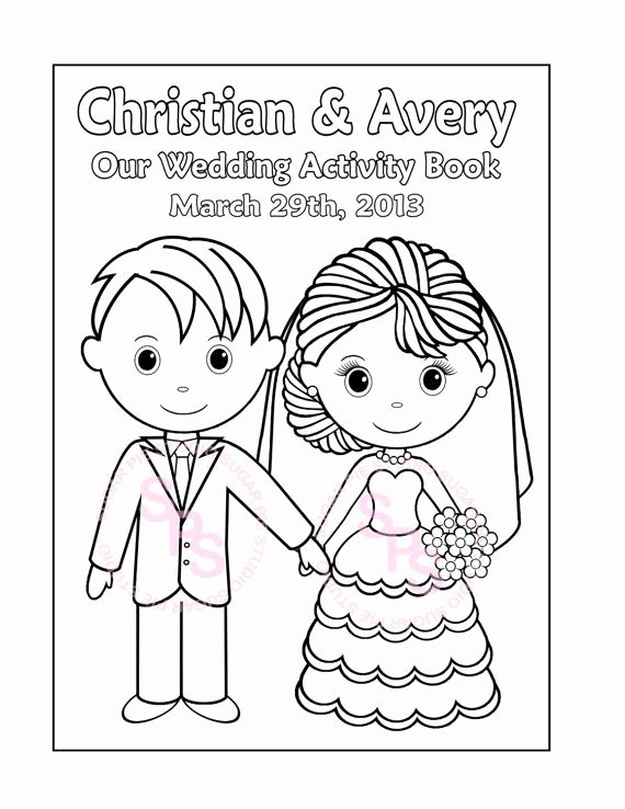 Wedding Coloring Book Templates Luxury Printable Personalized Wedding Coloring Activity Book