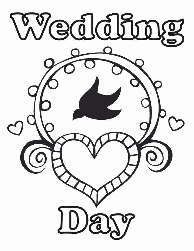 Wedding Coloring Book Templates Unique Free Wedding Coloring Pages Az Coloring Pages