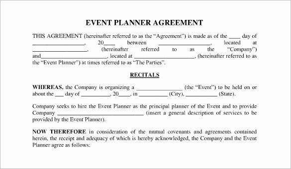 Wedding Coordinator Contract New event Contract Template 23 Word Excel Pdf Documents