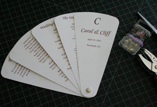 Wedding Fan Program Kit Unique Custom Programs Llc Dba Cherish Paperie Blog Diy Fan