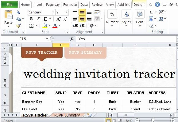 Wedding Guest List Tracker Awesome How to Easily Create Wedding Invite List In Excel