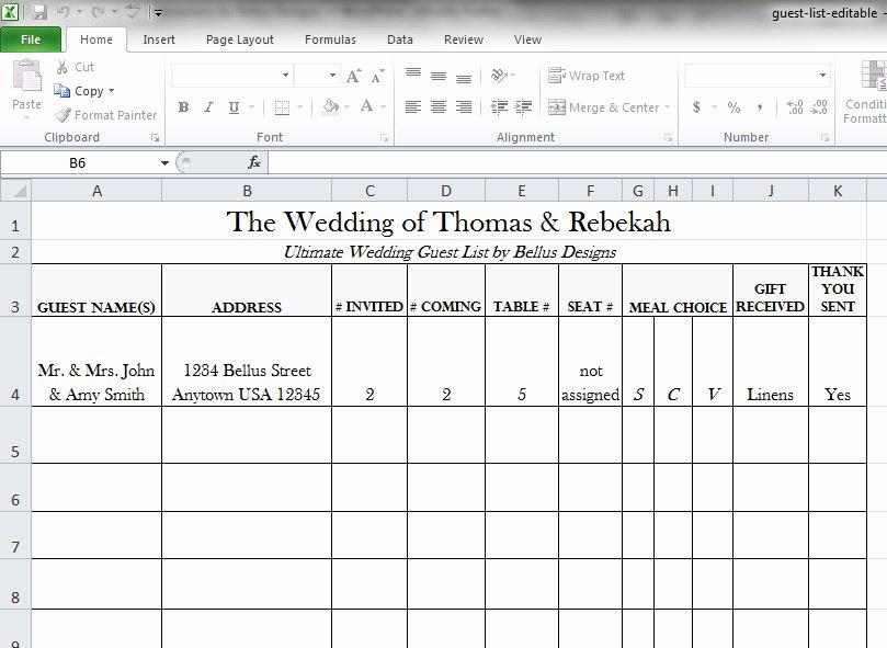 Wedding Guest List Tracker Beautiful Free Downloadable Wedding Guest & Rsvp List Bellus Designs