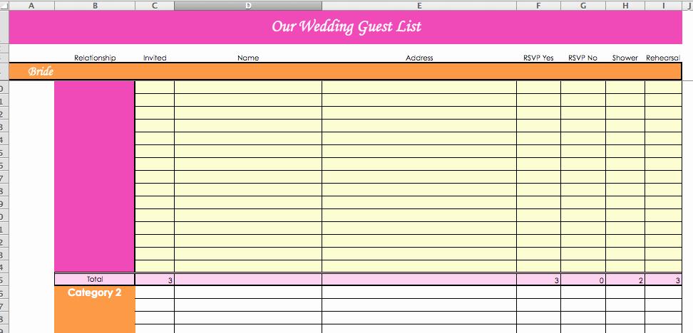 Wedding Guest List Tracker Best Of Laura S Plans Super Helpful Wedding Planning Spreadsheets
