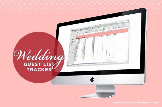Wedding Guest List Tracker Inspirational 17 Best Ideas About Wedding Guest List On Pinterest