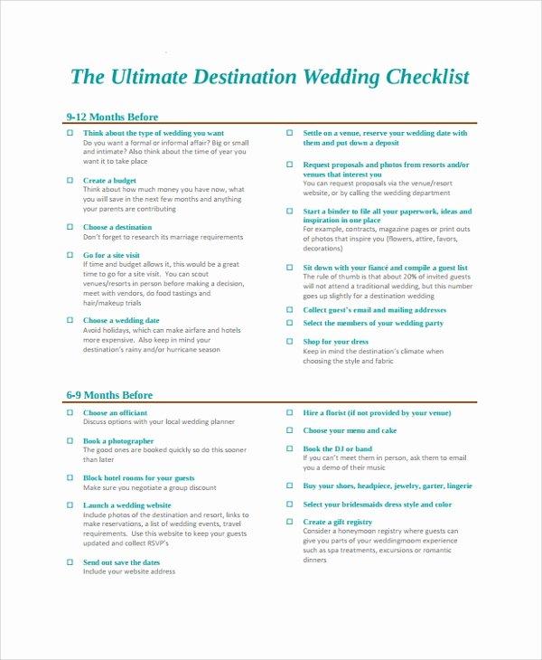 Wedding Photo Checklist Word Document Awesome Sample Wedding Checklist 24 Documents In Pdf Word