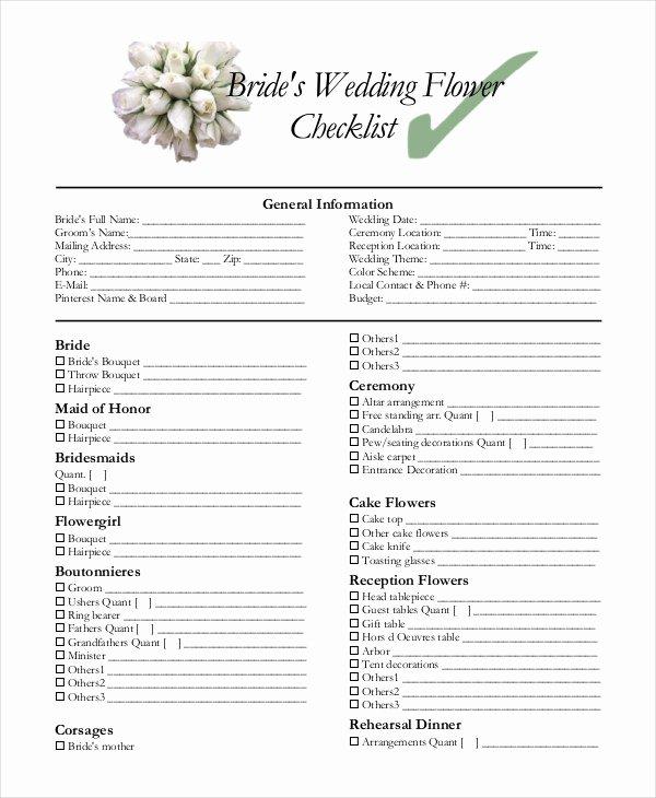 Wedding Photo Checklist Word Document Best Of Simple Wedding Checklist 25 Free Word Pdf Documents
