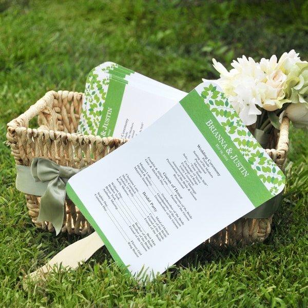 Wedding Program Fan Kit New Shop Diy Designer Fan Program Paper Kit Free Shipping