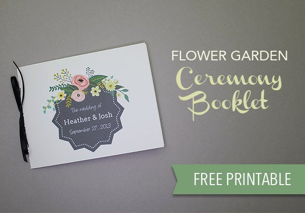 Wedding Program Template Free Download Awesome Free Wedding Program Template Download & Print