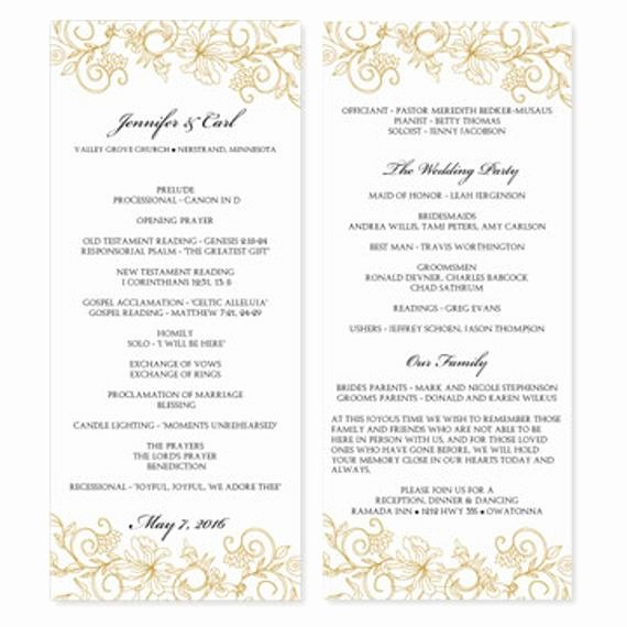 Wedding Program Template Free Download Awesome Wedding Program Template Download Instantly by Karmakweddings
