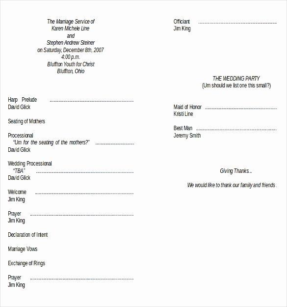 Wedding Program Template Free Download Beautiful Wedding Program Templates – 15 Free Word Pdf Psd