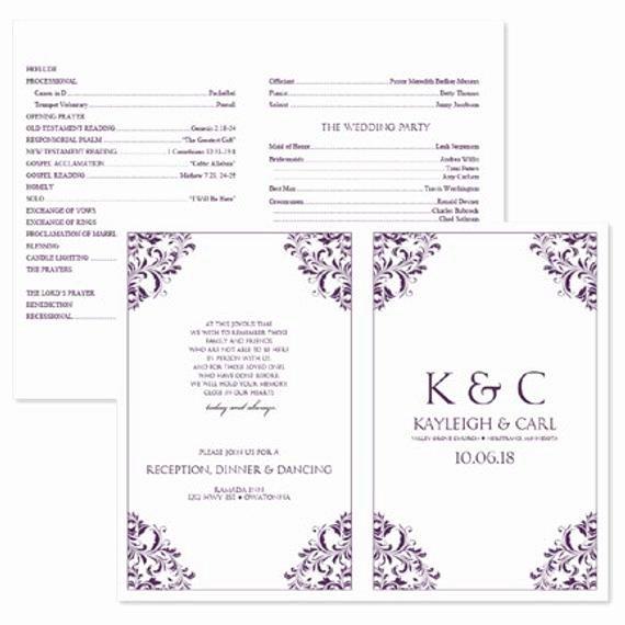 Wedding Program Template Free Download Inspirational Wedding Program Template Download Instantly by Karmakweddings