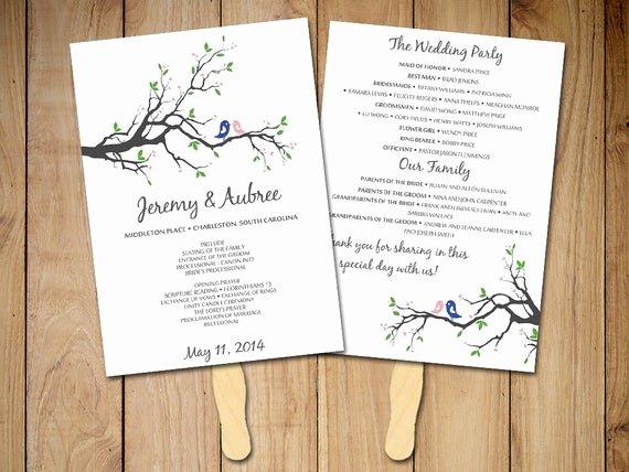 Wedding Program Template Free Download Lovely Diy Wedding Program Fan Template Rustic Ceremony Program