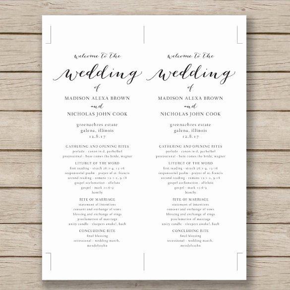 Wedding Program Template Free Download Lovely Wedding Program Template 41 Free Word Pdf Psd
