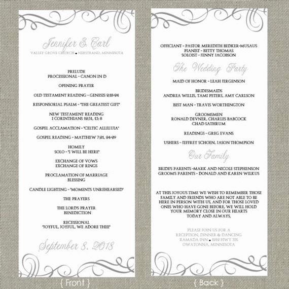 Wedding Program Template Free Download New Wedding Program Template Download by Diyweddingtemplates