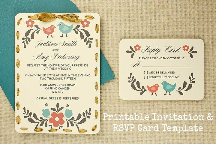 Wedding Rsvp Postcard Templates Awesome Diy Tutorial Free Printable Invitation and Rsvp Card