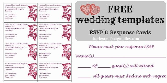 free wedding templates rsvp reception