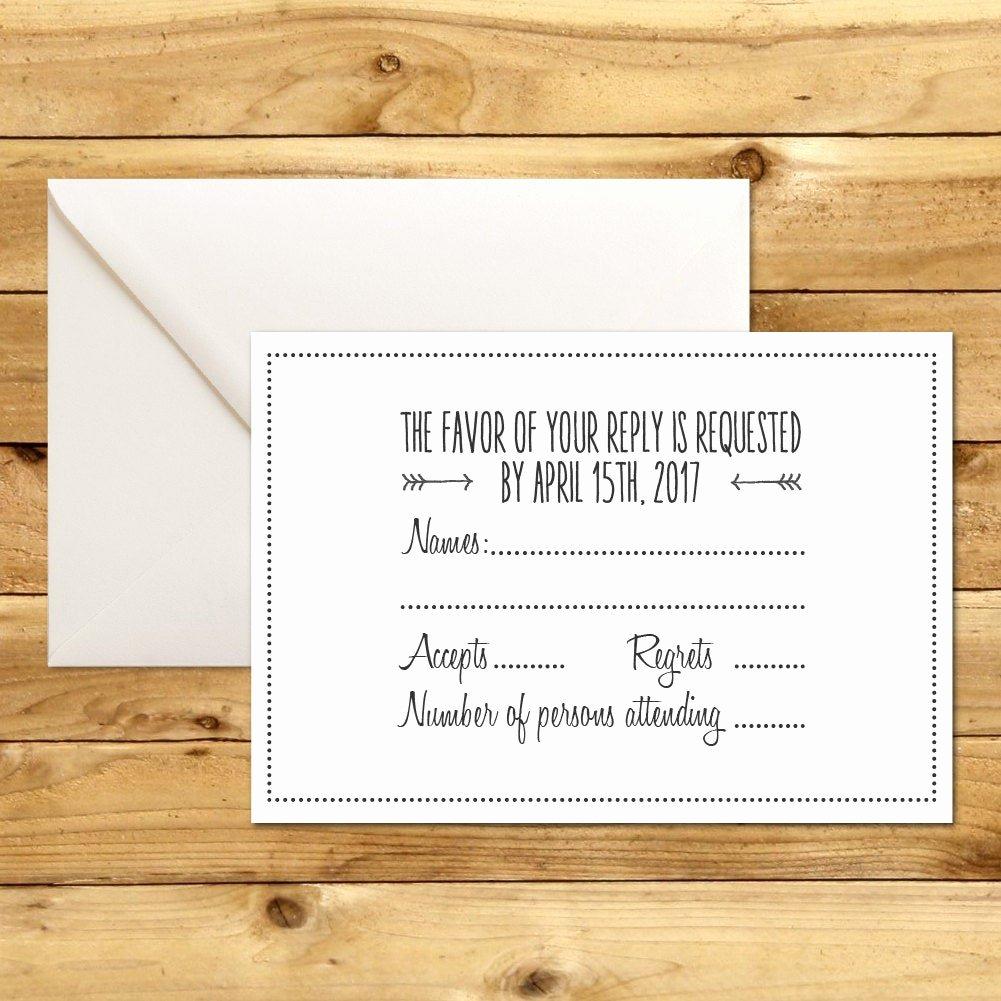 Wedding Rsvp Postcard Templates Elegant Rsvp Diy Wedding Template Rsvp Template Rustic Wedding