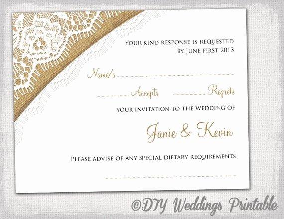 Wedding Rsvp Postcard Templates Inspirational Rustic Wedding Rsvp Template by Diyweddingsprintable
