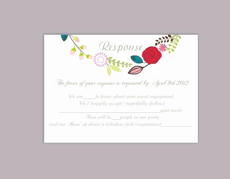 Wedding Rsvp Postcard Templates Lovely Diy Wedding Rsvp Template Editable Word File Download Rsvp
