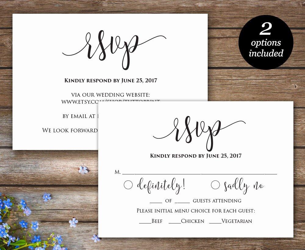 Wedding Rsvp Postcard Templates Luxury Rsvp Printable Card Wedding Rsvp Cards Wedding Response