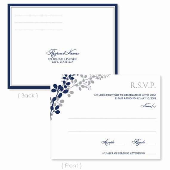 Wedding Rsvp Postcard Templates Luxury Wedding Rsvp Postcard Template Instant Download by