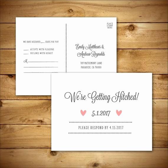Wedding Rsvp Postcard Templates Unique Rsvp Diy Wedding Template Rsvp Postcard Template Rustic