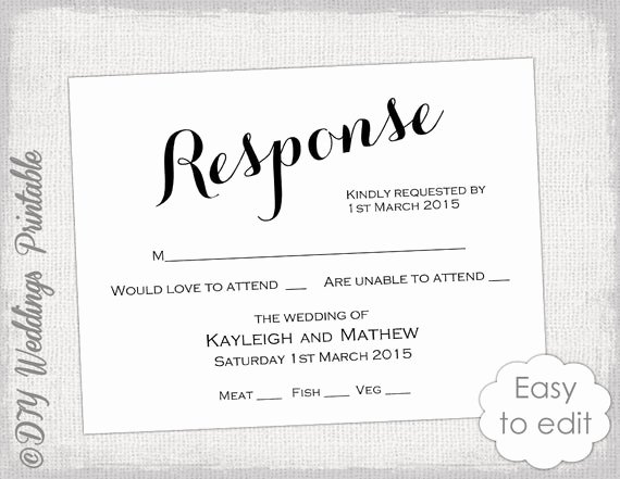 Wedding Rsvp Postcards Template Unique Rsvp Template Diy Calligraphy Carolyna Printable