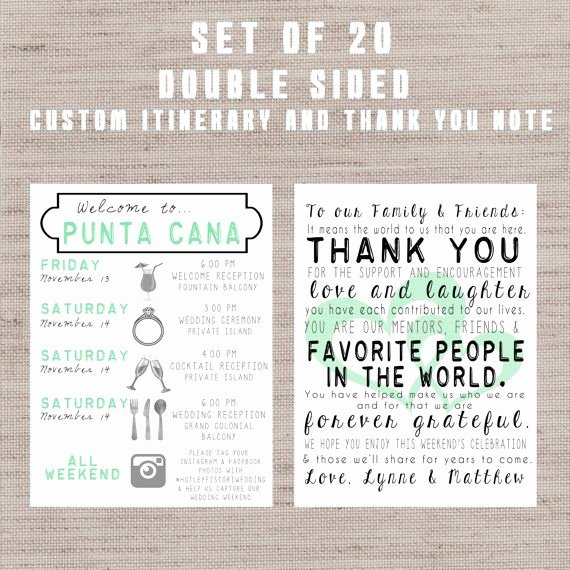 Wedding Weekend Itinerary Template Free Beautiful Set Of 20 Destination Wedding Wel E Bag Letters and
