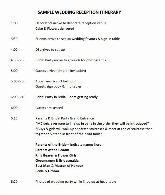Wedding Weekend Itinerary Template Free Best Of Wedding Itinerary Template 8 Download Documents In Pdf