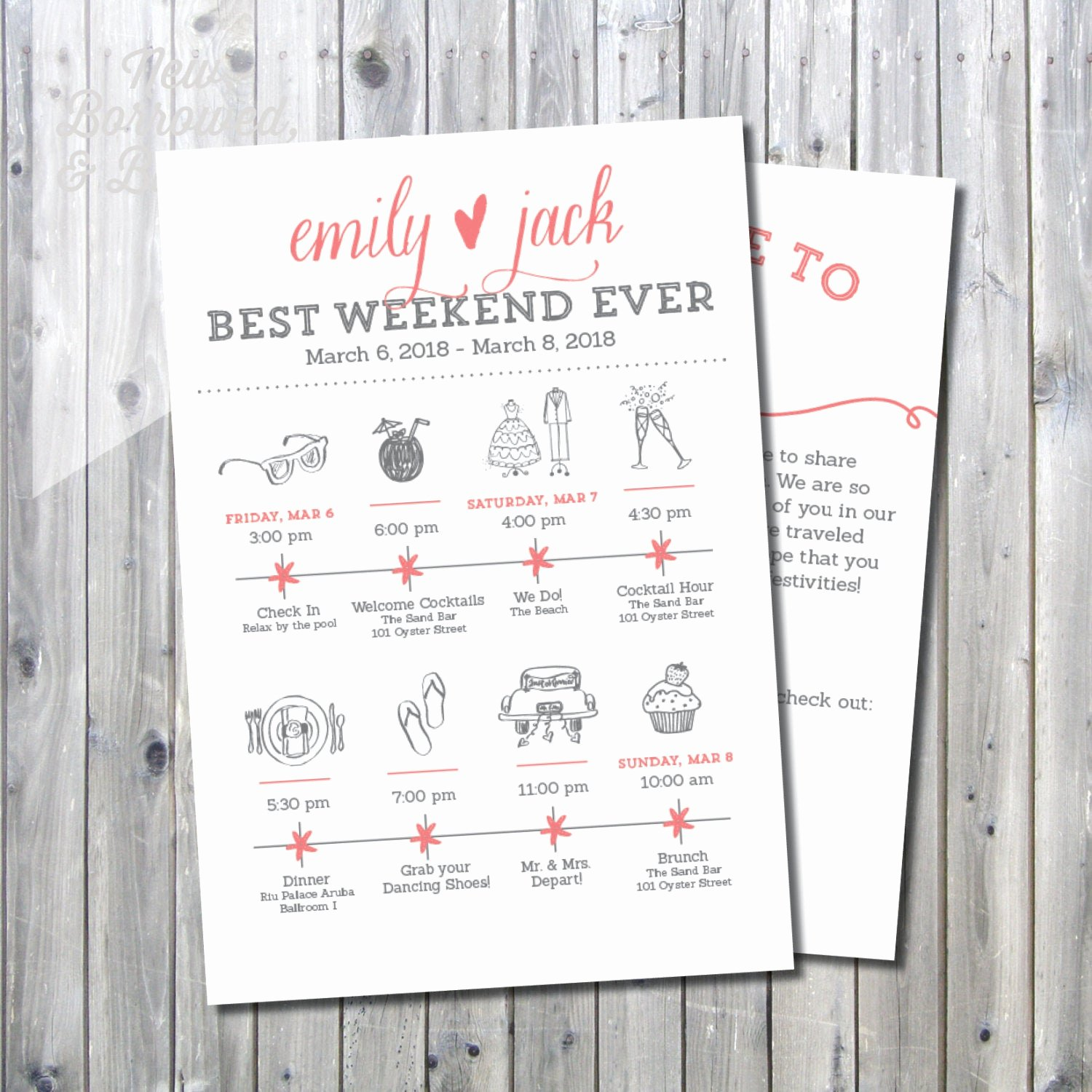 Wedding Weekend Itinerary Template Free Luxury Printable Destination Wedding Icon Itinerary with Wel E