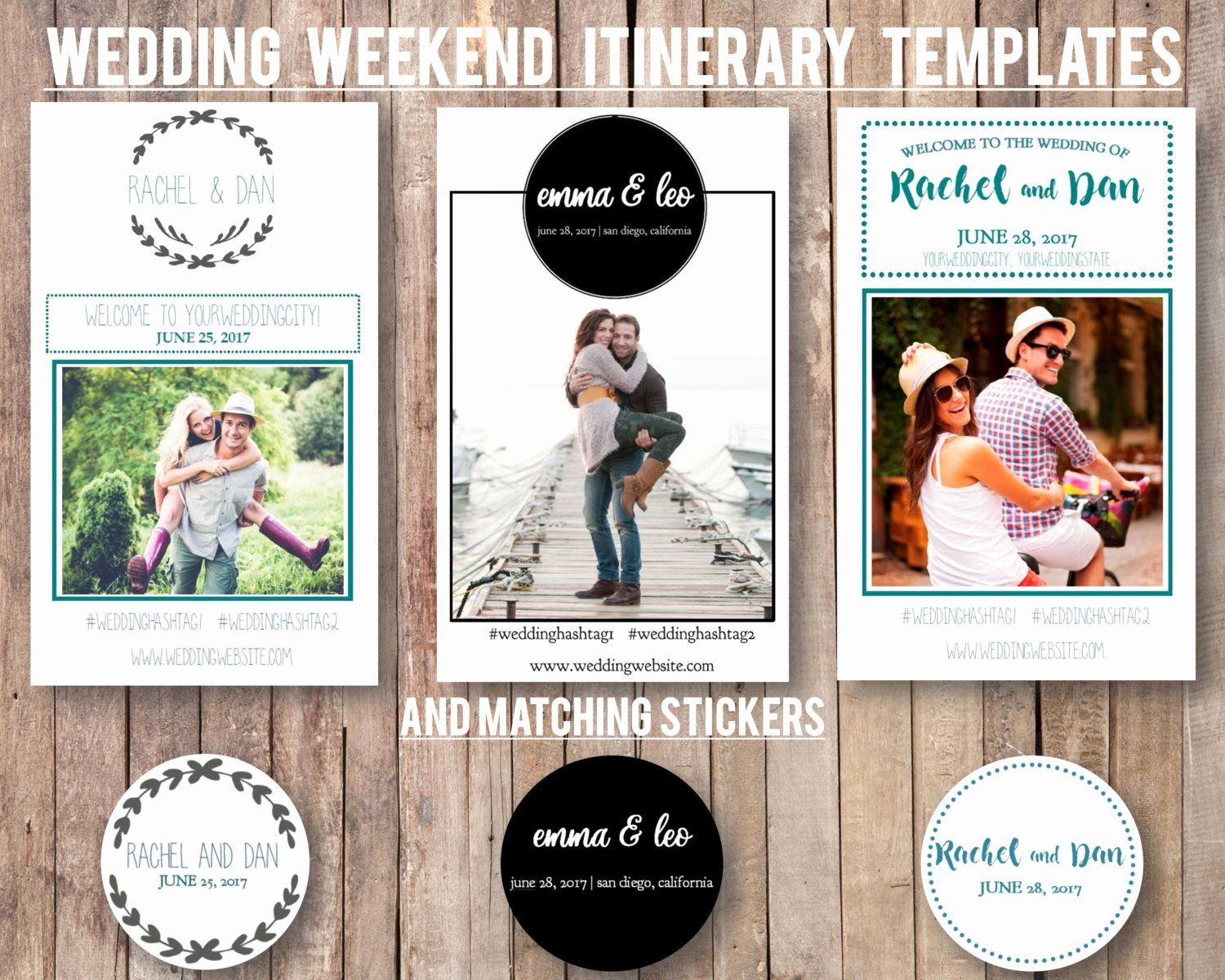 Wedding Weekend Itinerary Template Free Luxury Wedding Weekend Diy Itinerary Schedule Template by