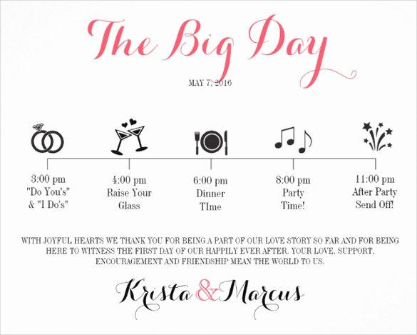 Wedding Weekend Itinerary Template Free New 44 Wedding Itinerary Templates Doc Pdf Psd