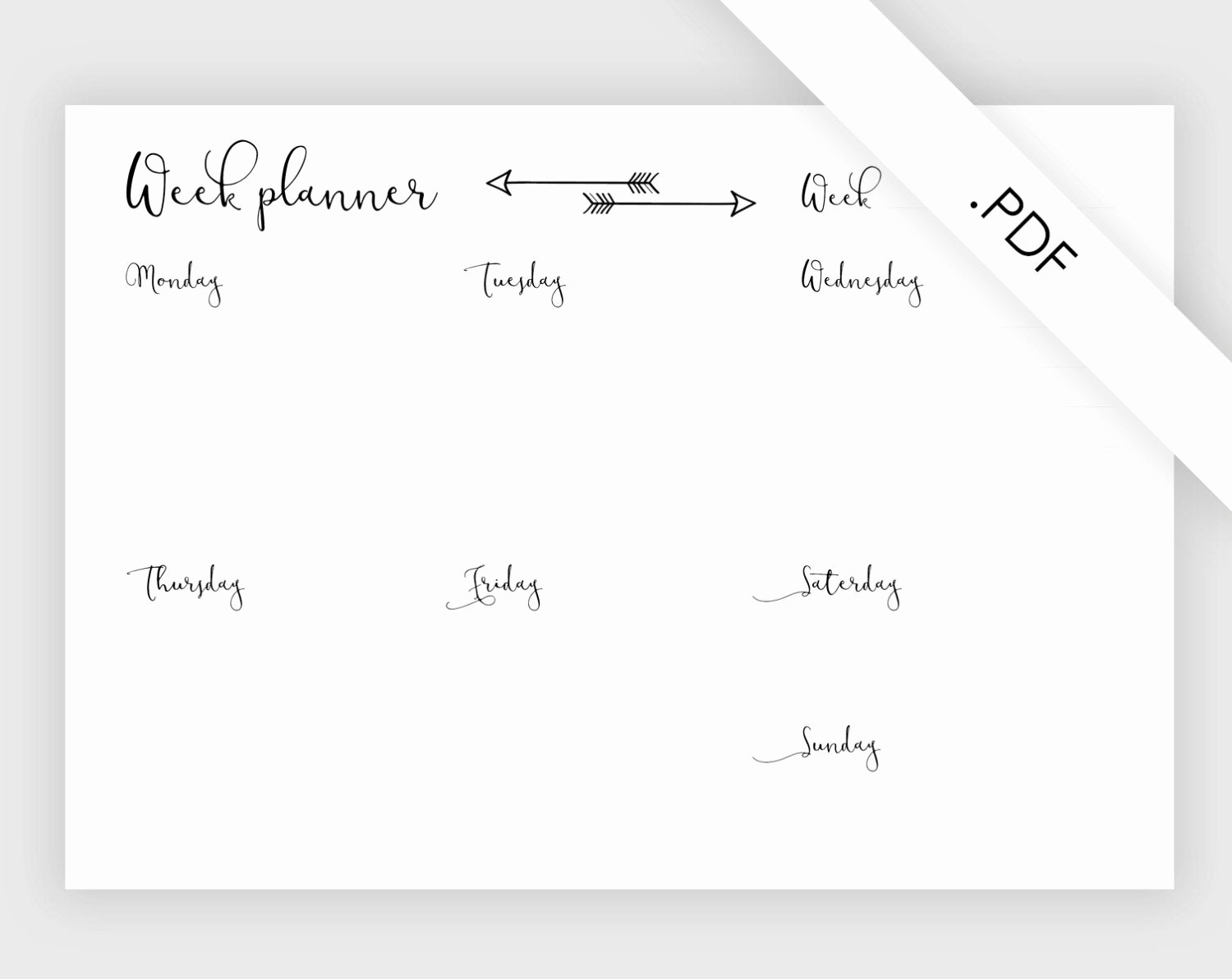 Week at A Glance Templates Best Of Week Planner On One Page Template Printable Week at A
