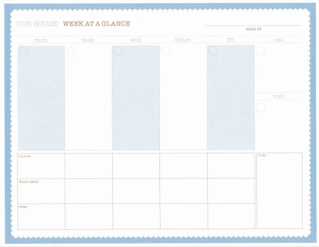 Week at A Glance Templates Fresh 1000 Ideas About Goal List On Pinterest