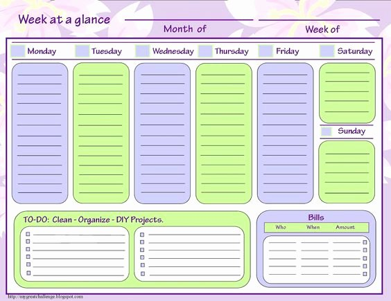 Week at A Glance Templates Luxury 29 Of to Do List Template Days the Week