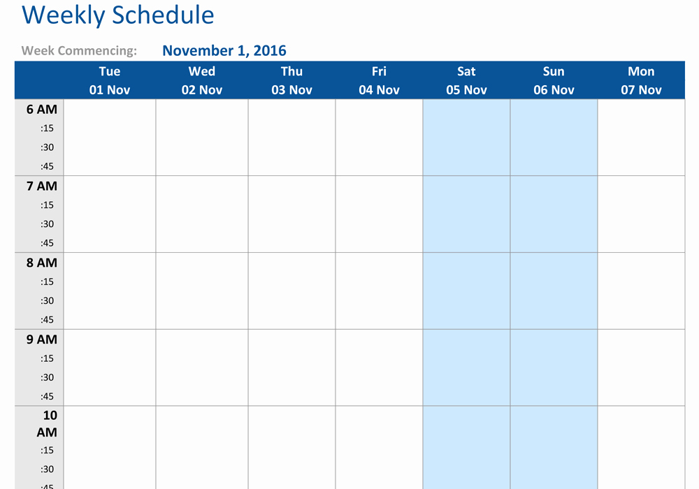 Week Schedule Template Word Awesome Creative Weekly Schedule Templates for Word Vatansun