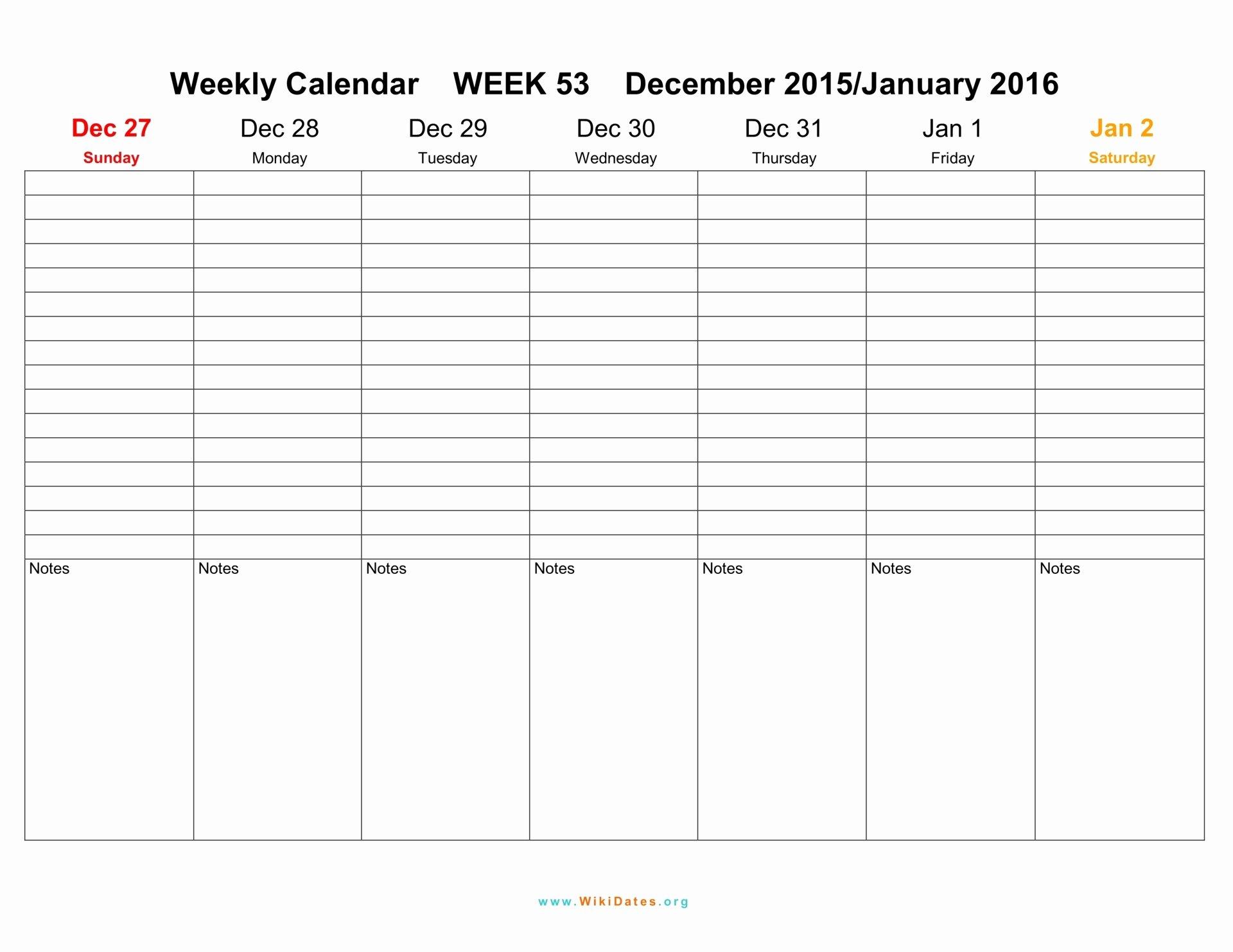 Weekly Calendar Template 2017 Beautiful Weekly Calendar 2016 2017 2018