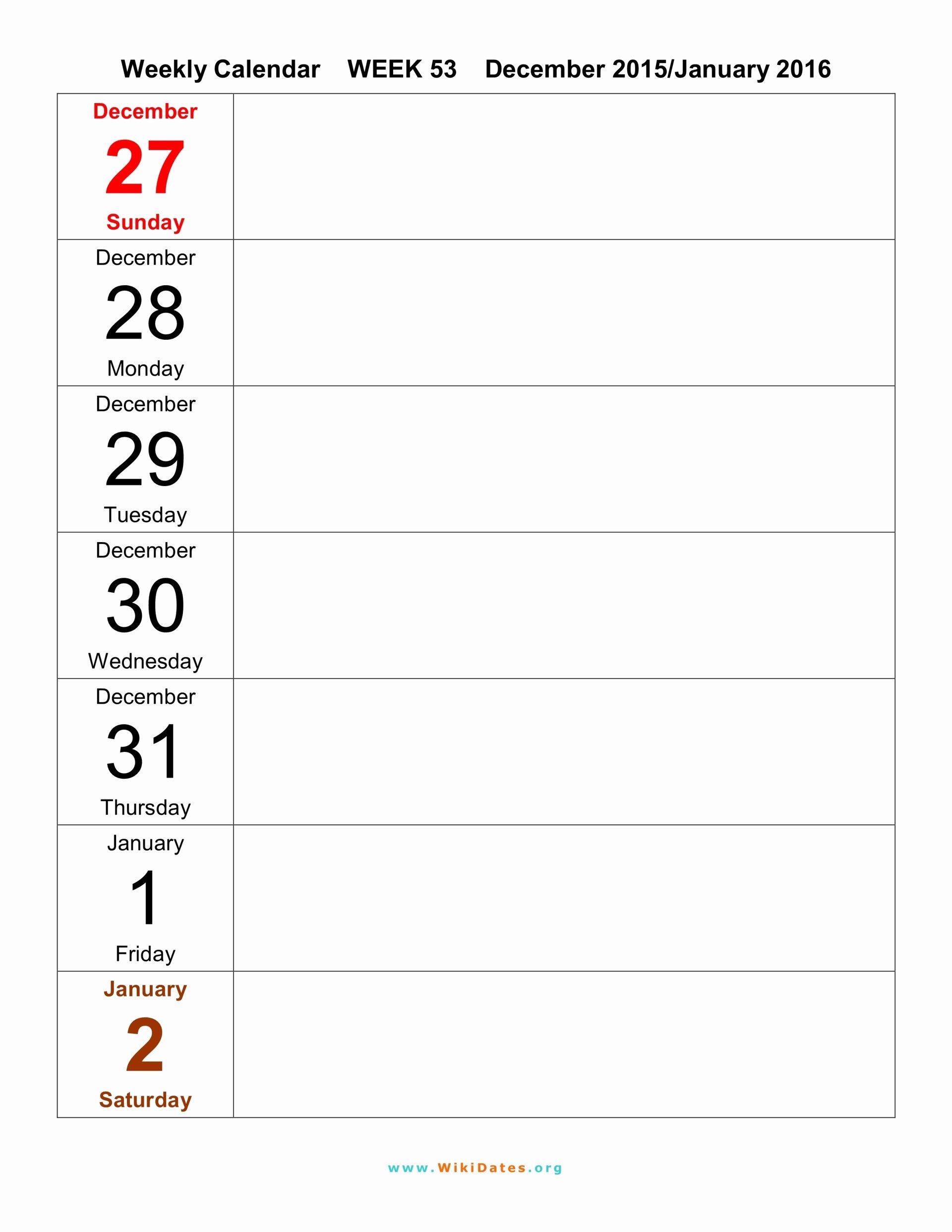 Weekly Calendar Template 2017 Fresh Weekly Calendar Template 2017