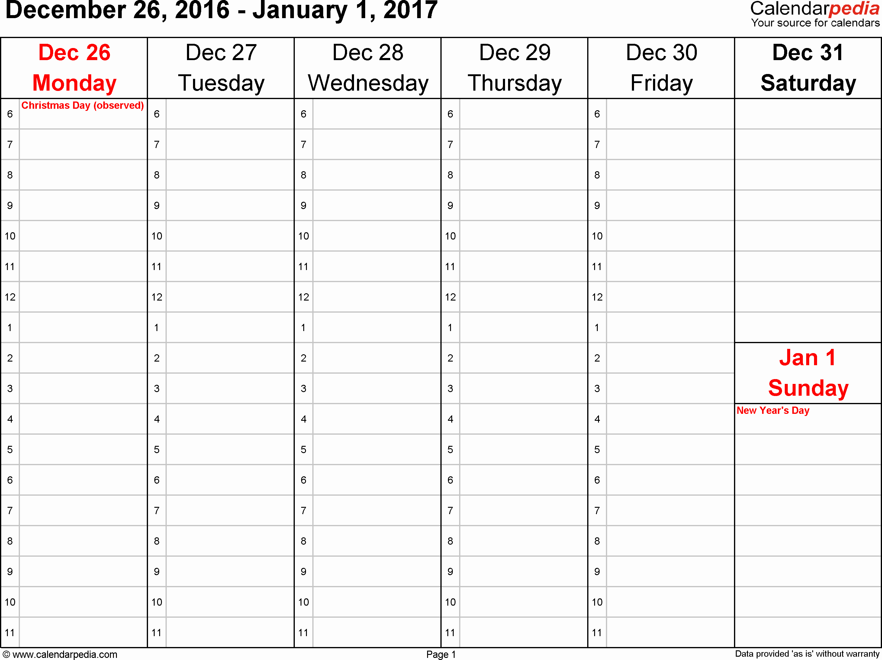 Weekly Calendar Template 2017 Lovely Weekly Calendar 2017 for Pdf 12 Free Printable Templates