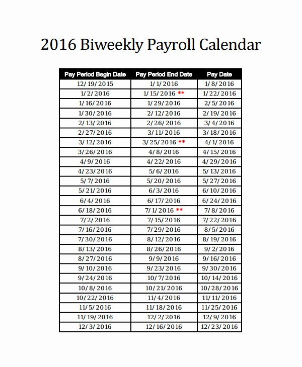 Weekly Payroll Calendar 2019 Beautiful Awesome 35 Design Semi Monthly Payroll Calendar 2019 Template