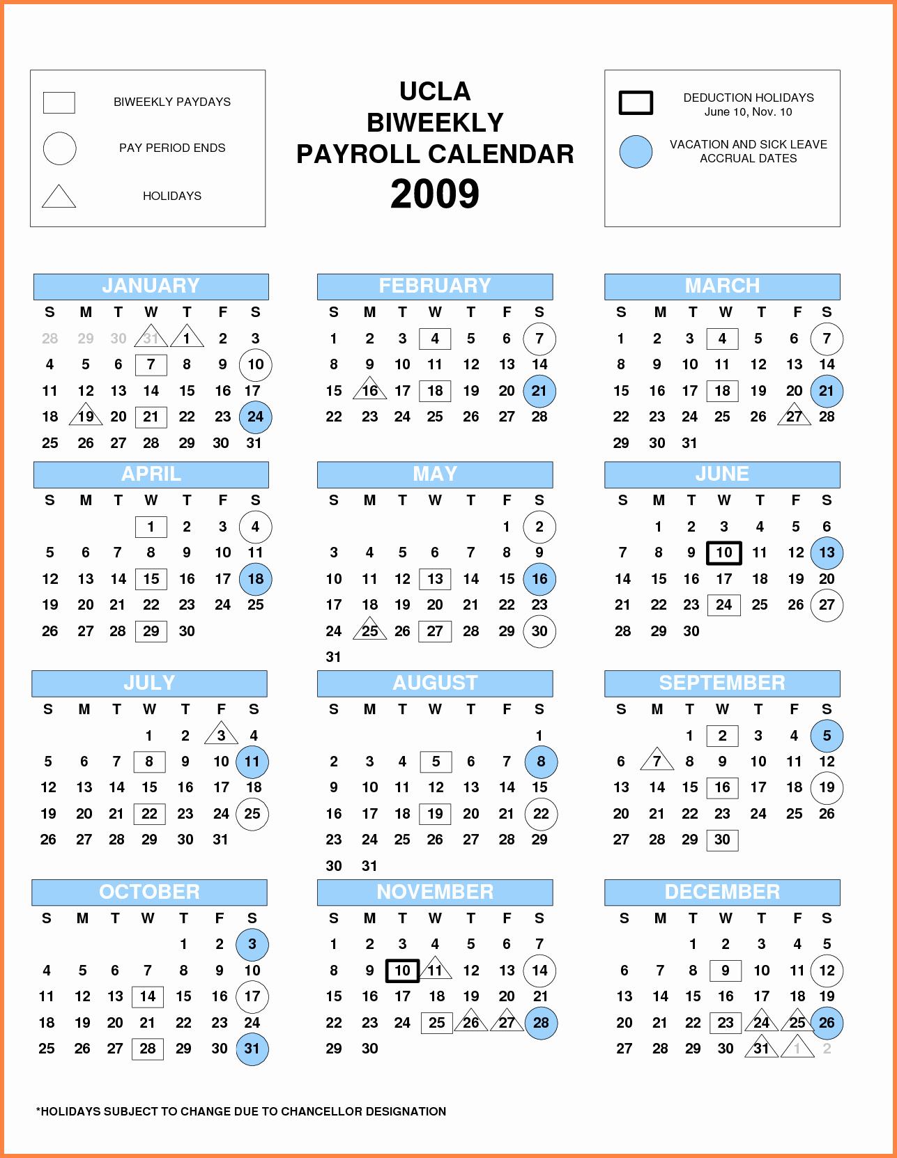 Weekly Payroll Calendar 2019 Elegant Pay Period Calendar Bi Weekly 2018