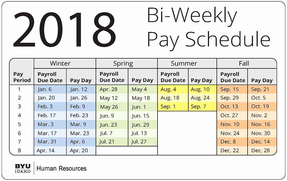 Weekly Payroll Calendar 2019 Luxury 15 Biweekly Pay Schedule 2018