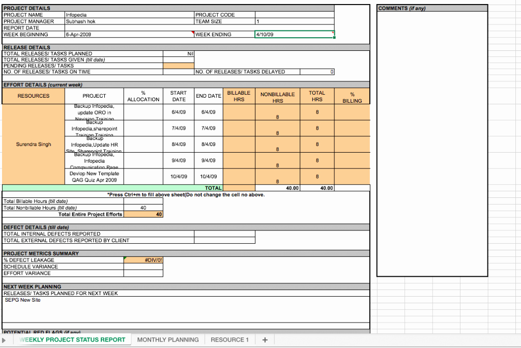 Weekly Project Status Report Template Excel Lovely Weekly Project Status Report Template Excel