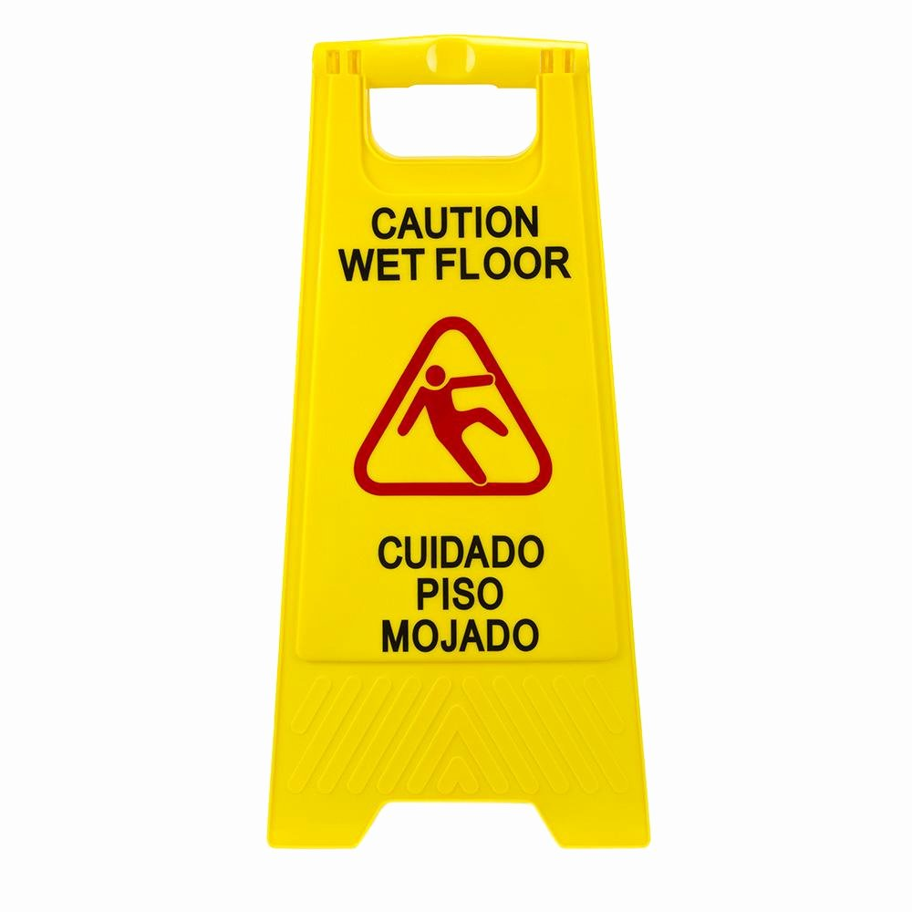 Wet Floor Signs Printable Best Of Plastic Multi Lingual Yellow 25 In X 12 In Caution Wet