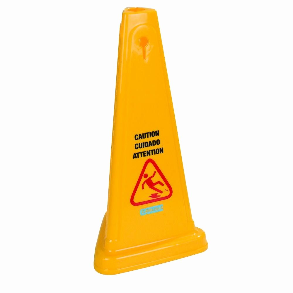 Wet Floor Signs Printable Elegant Carlisle 27 In English and Spanish Caution Cone Case Of