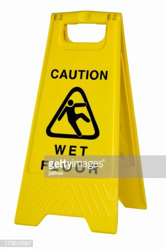Wet Floor Signs Printable Fresh Yellow Caution Wet Floor Sign White Background Stock