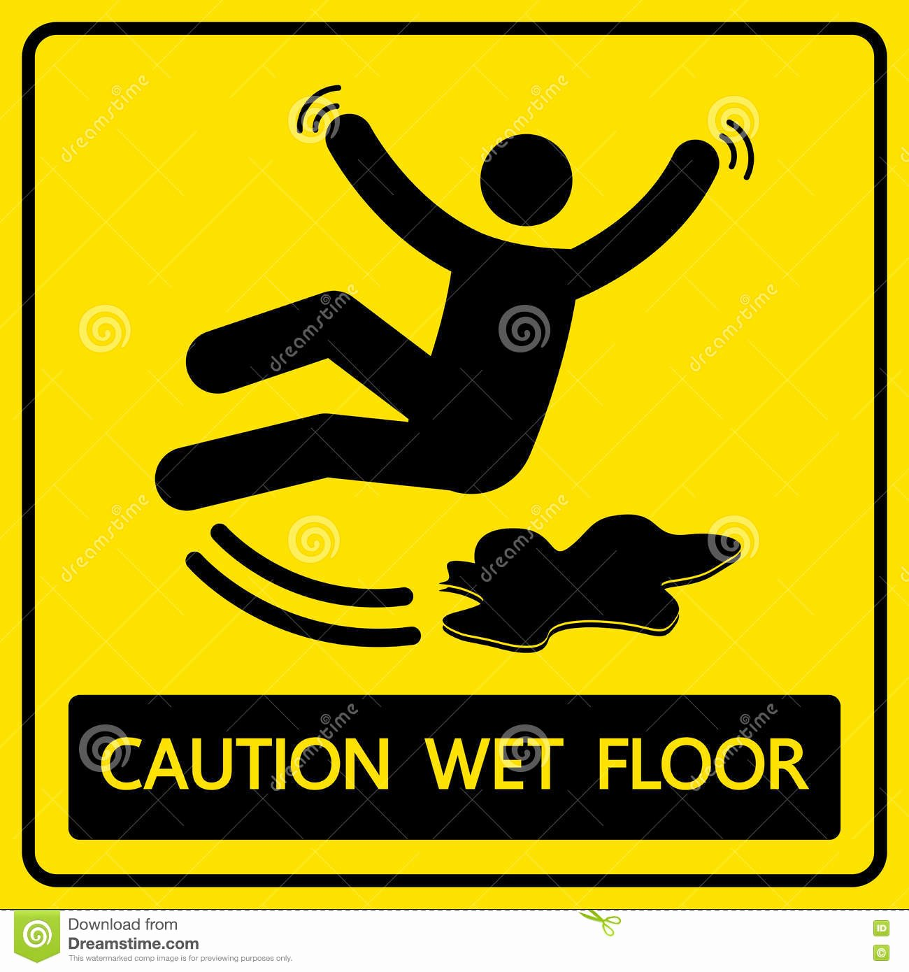 Wet Floor Signs Printable Inspirational Caution Wet Floor Sign and Symbol Stock Illustration